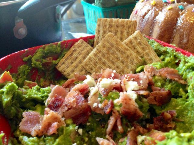 Vyvacious    Bacon Blue Cheese Guacamole Dip