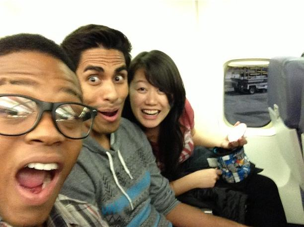 Vegas plane ride with Julio and Jeff