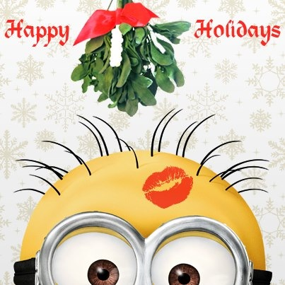 Vyvacious || Happy Holidays from the minions