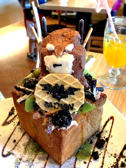 Vyvacious || Batman Honey Toast from Milk & Honey Cafe