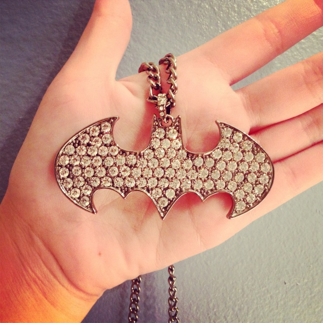 Vyvacious || Blinged out Batman necklace