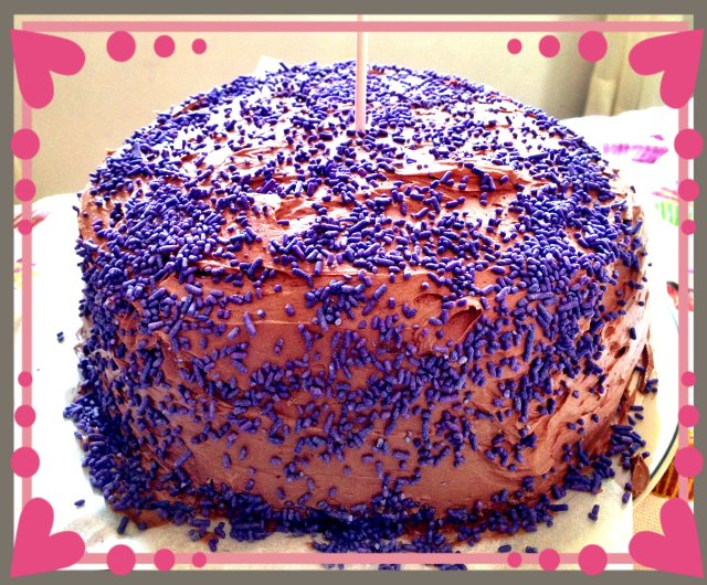 Vyvacious || Valentine's Day Sweet Treat - Intense Chocolate Cake with Dark Choclate Frosting